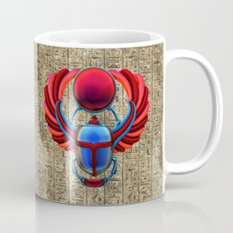 Colorful Egyptian Scarab Coffee Mug