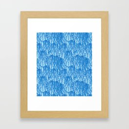 Cascading Wisteria in Blue Framed Art Print