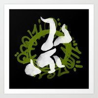 hiphop Art Prints featuring Hiphop by Lydia Wingbermuhle