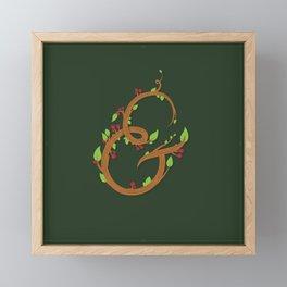 Natural Ampersand Framed Mini Art Print