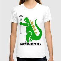 lacrosse T-shirts featuring Lacrosse Laxasaurus Rex  by YouGotThat.com