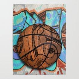 Basketball Graffiti Team Sports Design Poster
