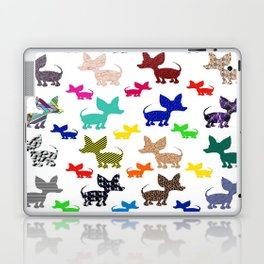 colorful chihuahuas on parade  Laptop & iPad Skin