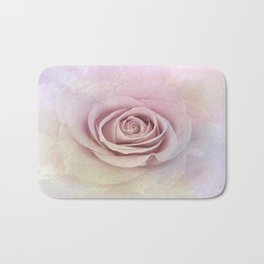 Forever My Love Pink Rose Abstract Bath Mat