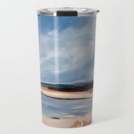 Beach in Navy and Ochre Travel Mug