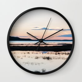 Sunset in Iceland - nature landscape Wall Clock