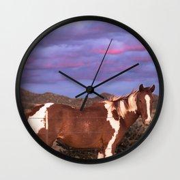 Santa Fe Horse Sunset Wall Clock