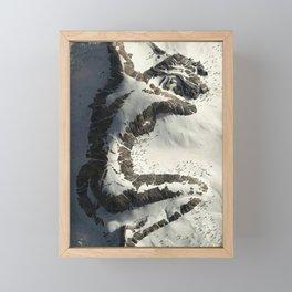 The Sleeping Lady Mountain, Mount Susitna, Alaska Framed Mini Art Print