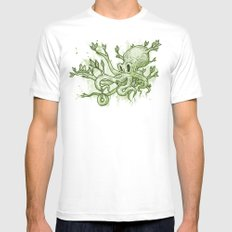 Octopus Tree Mens Fitted Tee White MEDIUM