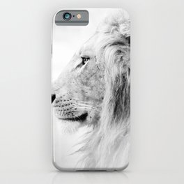 Lion Black and White Photography iPhone Case