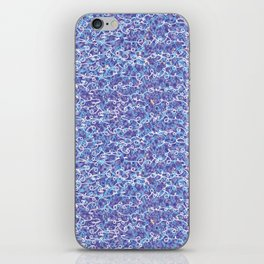 Cool blue abstract thread design iPhone Skin