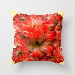 Amaryllis Floral abundance Throw Pillow