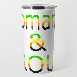 Aromantic and Proud (white bg) Travel Mug