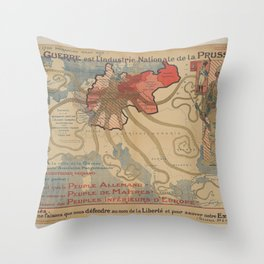Vintage poster - Prussia Throw Pillow