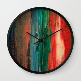 Claire One (The woman in the paint.) Wall Clock