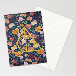 Dealthy Hallows Pattern/Gold Stationery Cards