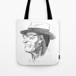 Drawing 4 Fun, My Personal Practice Charcoal Drawing of Old Man Tote Bag