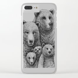 Family photo (mr. Bear) Clear iPhone Case