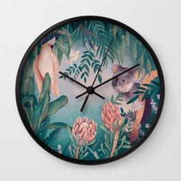 Australian flora and fauna Wall Clock
