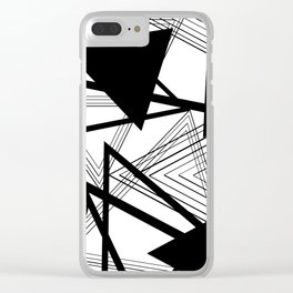 Black and White Abstract Geometric Part II Clear iPhone Case