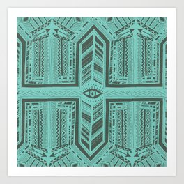 Third Eye - Aqua Art Print