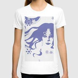 Vintage 70s Style Flower Power. Fashion Design T-shirt