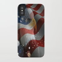 patriotic iPhone & iPod Cases featuring Patriotic America by Barrier _S_D