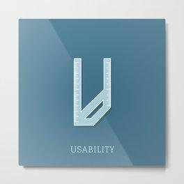 Usability Metal Print