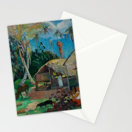 Paul Gauguin - The Black Pigs (1891) Stationery Cards
