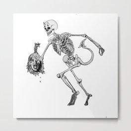 skeleton devil Metal Print