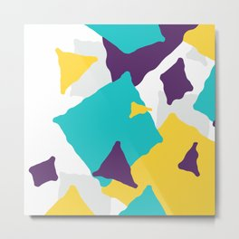 Abstract Geometric shapes texture Metal Print