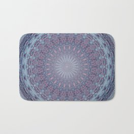 Mandala Blue & Red Bath Mat
