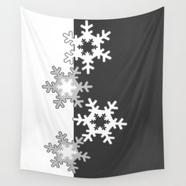 Black and white Christmas pattern Wall Tapestry