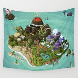 Rock Island Wall Tapestry