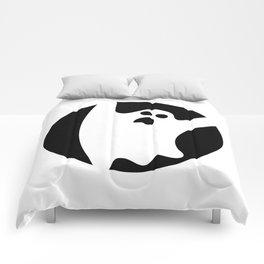 ghosty black Comforters