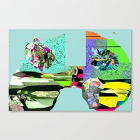 f1 Canvas Prints featuring F1 by Daily Rorschach