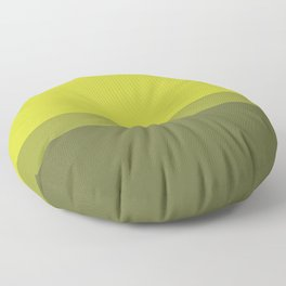 COLOR BLOCKED, CHARTREUSE Floor Pillow
