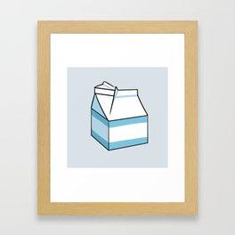 Milk Carton Light Blue Framed Art Print