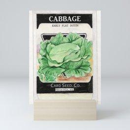 Cabbage Seed Packet Mini Art Print