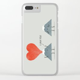 I Lava You Clear iPhone Case