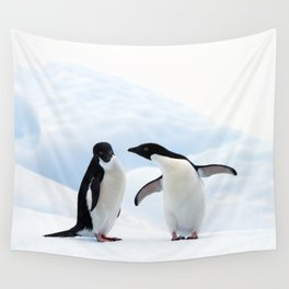 Adelie Penguins Wall Tapestry