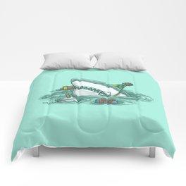 Happy Birthday Shark Comforters