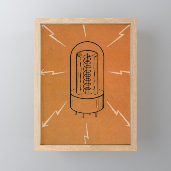 Vintage Vacuum Tube Framed Mini Art Print