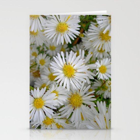 white daisy I Stationery Cards