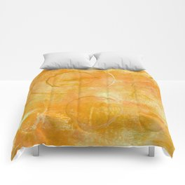 Will it Go Round in Circles, Abstract Art Painting Comforters