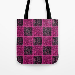 Raspberry patchwork Roses. Tote Bag