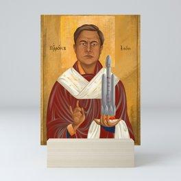 Holy Prophet Elon Musk Mini Art Print
