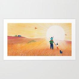 The Sun is a Shine Art Print