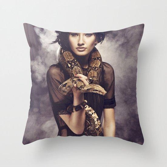 Snake Charmer Throw Pillow