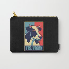 COW POSTER VEGAN Carry-All Pouch